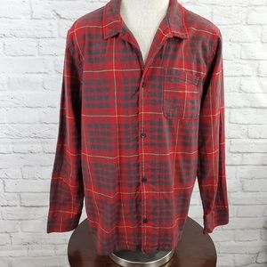 Pendleton Flannel Button Front Shirt Plaid Large